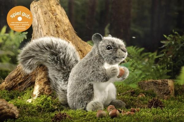 Kösener Eichhörnchen Hörnchen grau stehend 18 cm 7370 Plüschtier Kuscheltier Stofftier Plüsch