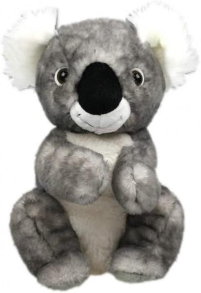Inware 6446 - Kuscheltier Koala Bär Noldi, grau/meliert, sitzend, 21 cm