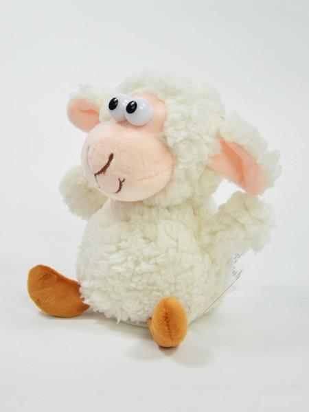 """Laber-Zottel-Schaf """"Bubi"""" das alles nachplappert Kopf bewegt sich 18x12x17cm inkl. Batterien"""