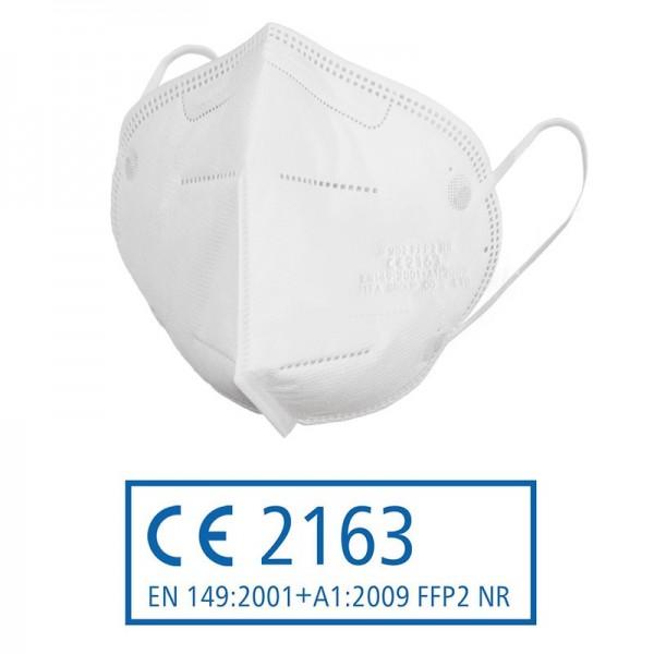 FFP2 Atemschutzmaske zertifiziert nach FFP2-Norm (gefaltet, Modell JFM02) 3190
