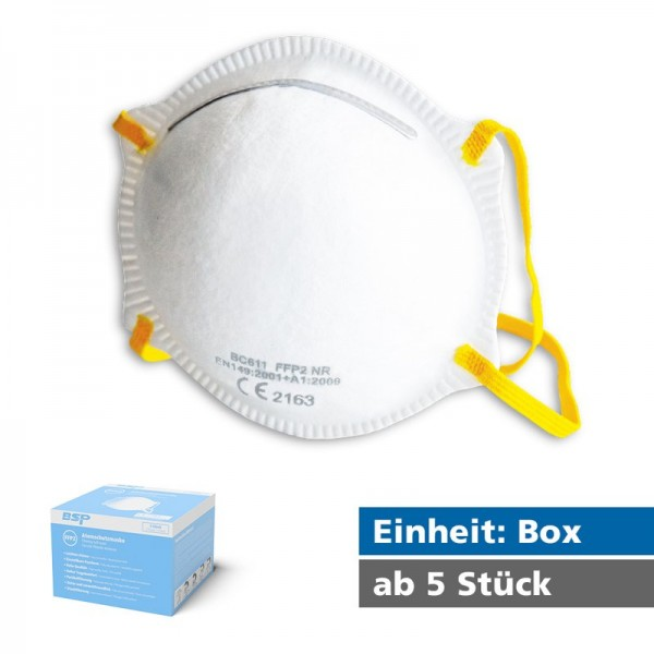 FFP2 Atemschutzmaske (vorgewölbt, Modell BC611)