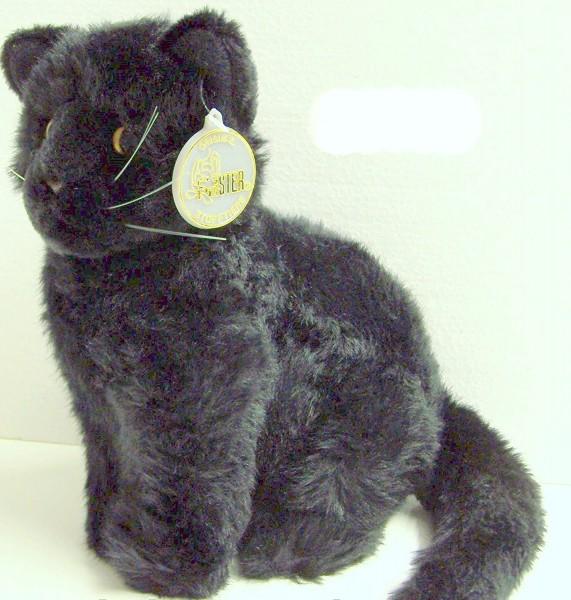Förster Stofftiere 3378 Katze schwarz sitzend klein 20cm