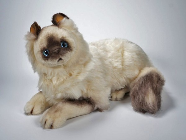 Piutre Liegende Birman Katze 45cm Lying Birman cat cm.45
